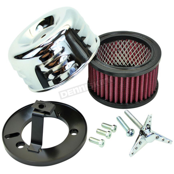 TC Bros. Choppers Chrome Louvered Air Cleaner for S&S - 109-0116