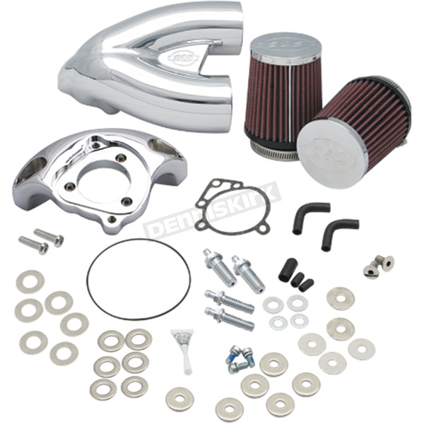 S&S Cycle Chrome Single Bore Tuned Induction Kit - 170-0308B