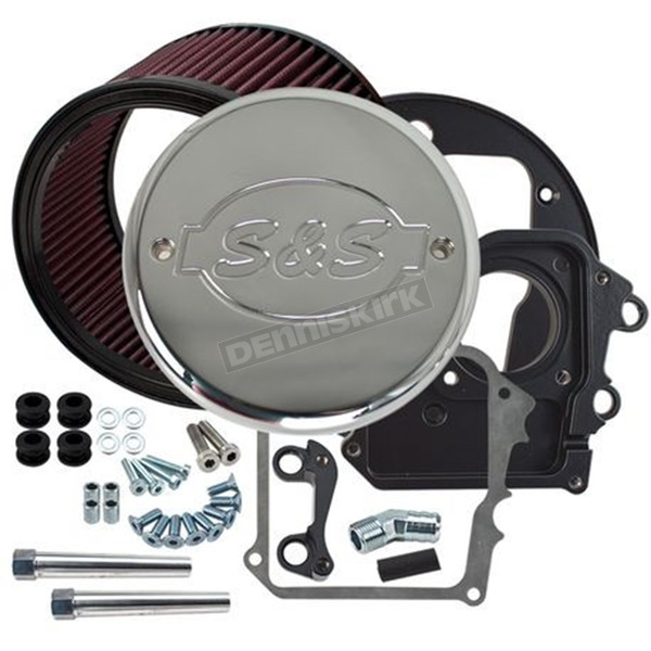 S&S Cycle Air Cleaner Kit w/Chrome S&S Logo Cover - 170-0295B