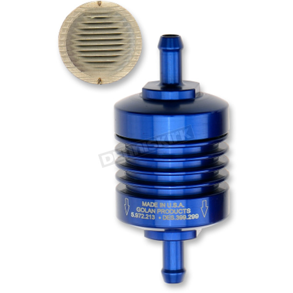 Blue 1/4 in. Peak Flow Mini Fuel Filter - 60-250C-BLUE