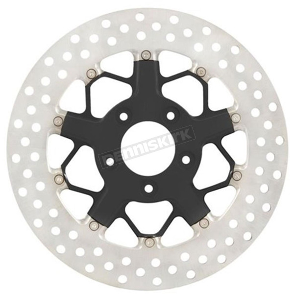 Roland Sands Design 11.8 in Black Ops Rear Hutch 2-piece Brake Rotor - 01331802HUTSSMB