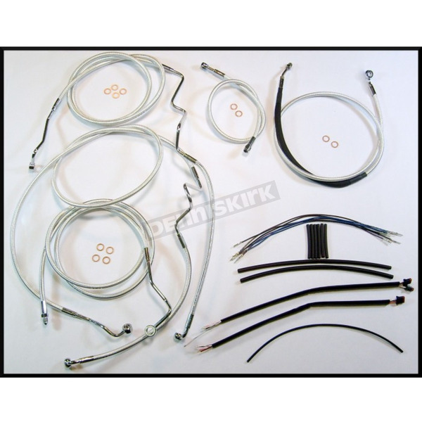 Magnum Sterling Chromite II Designer Series Handlebar Installation Kit for use w/18 in.-20 in. Ape Hangers w/ABS - 387553