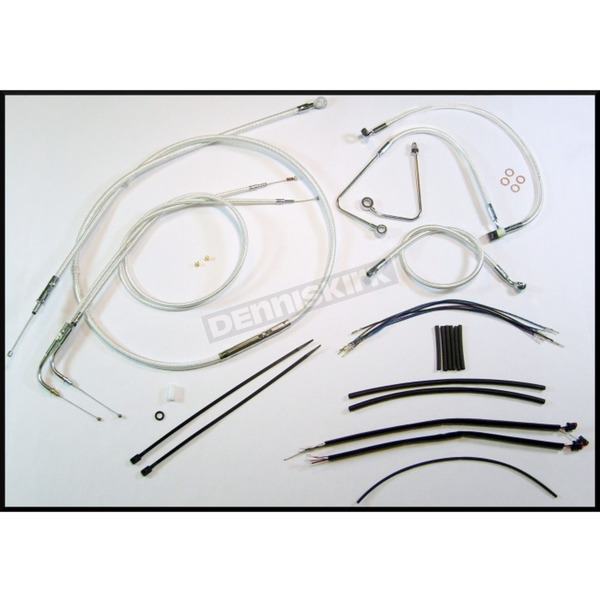 Magnum Sterling Chromite II Designer Series Handlebar Installation Kit for use w/18 in.-20 in. Ape Hangers w/ABS - 387603