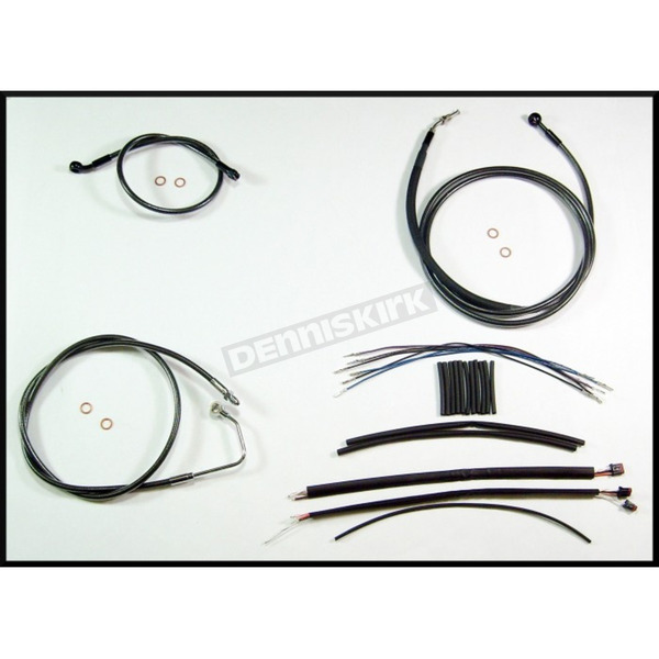 Magnum Black Pearl Designer Series Handlebar Installation Kit for use w/18 in.-20 in. Ape Hangers w/ABS - 487563