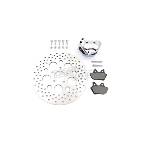 V-Twin Manufacturing Front 4 Piston Left Side Caliper and Disc Kit - 23-0561