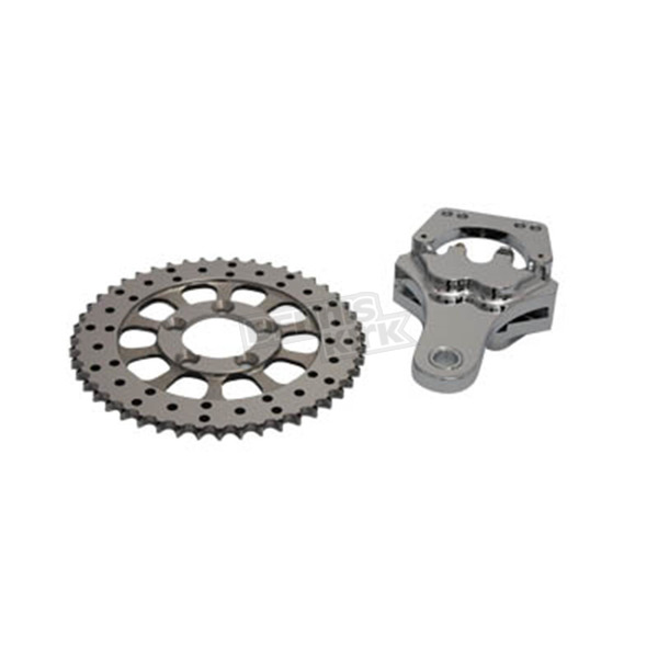 V-Twin Manufacturing Rear 4 Piston Caliper and 10 in. Disc Sprocket Kit - 23-0897