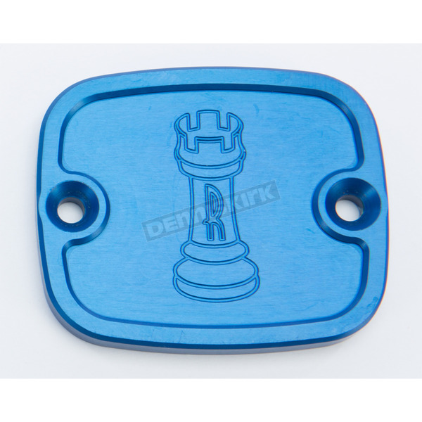 Rooke Customs Blue Front Master Cylinder Cover - R-C122-T8