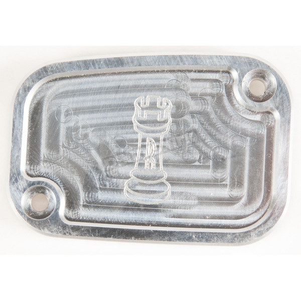 Rooke Customs Raw Front Master Cylinder Cover - R-C128-TA
