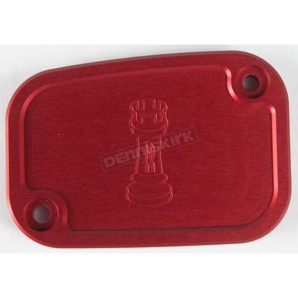 Rooke Customs Red Front Master Cylinder Cover - R-C128-T7