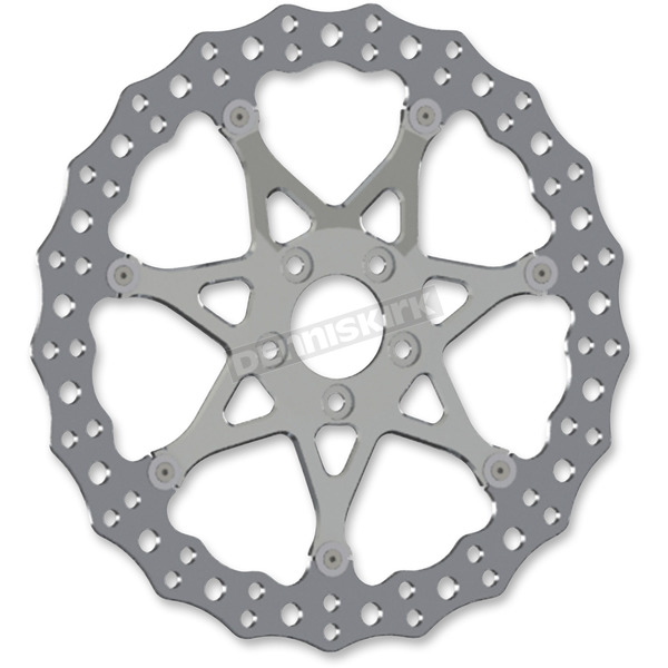 Arlen Ness Chrome Front 14 in. Procross Two-Piece Floating Brake Rotor - 33-10102-203