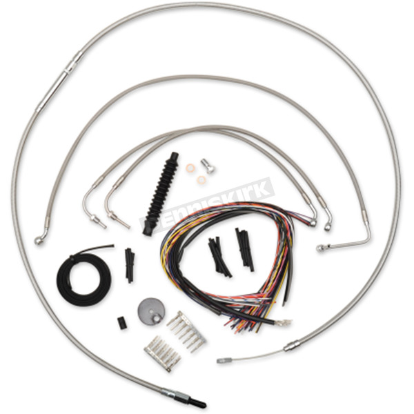 Complete Stainless Steel Handlebar Cable Kit for 15-17