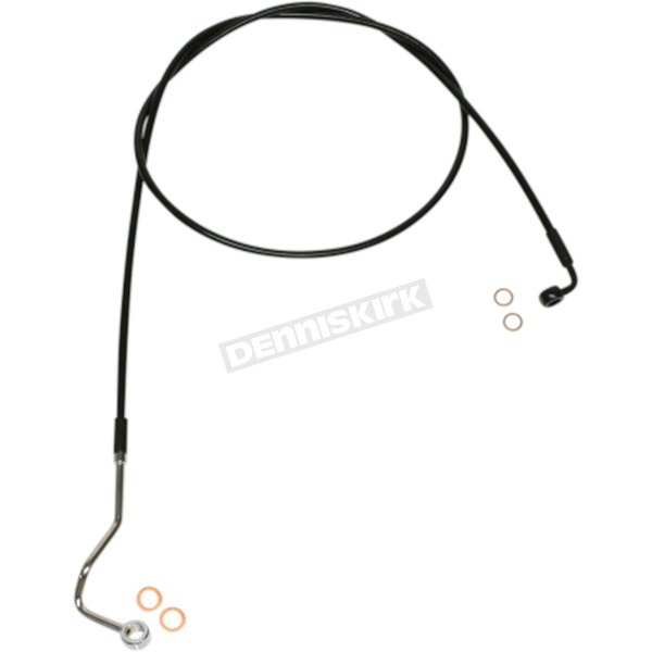 Black XR Stainless Extreme Response ABS Upper Brake Line Kit - Stock Length - SBB1403-64