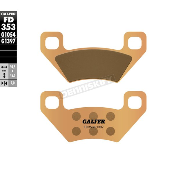 HH Sintered Brake Pads - FD353G1397