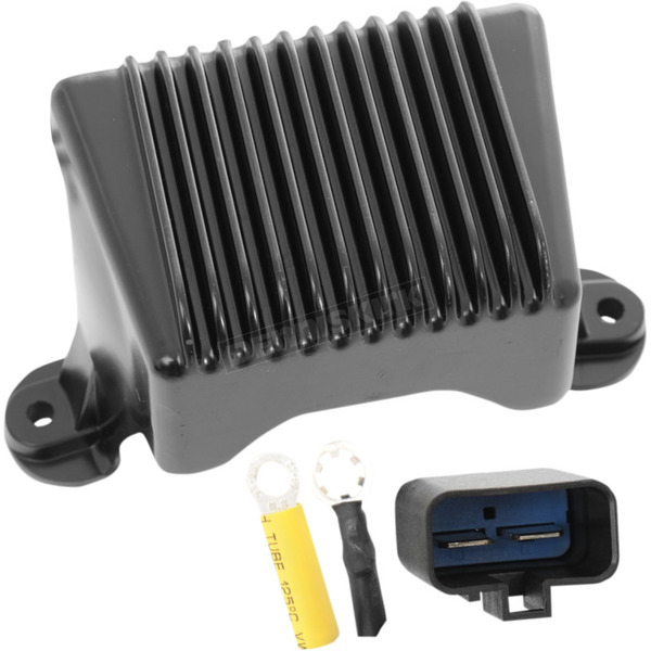Drag Specialties Black Premium Voltage Regulator - 2112-1032