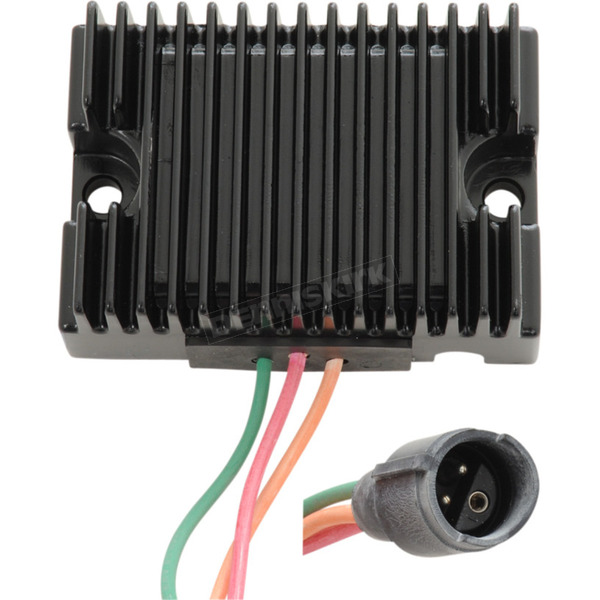 Drag Specialties Black Premium Voltage Regulator - 2112-1054