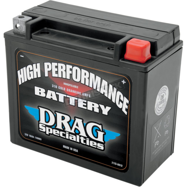 Drag Specialties High Performance 12-Volt AGM Battery - 2113-0012