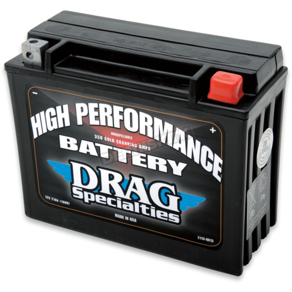 Drag Specialties High Performance 12-Volt AGM Battery - 2113-0013