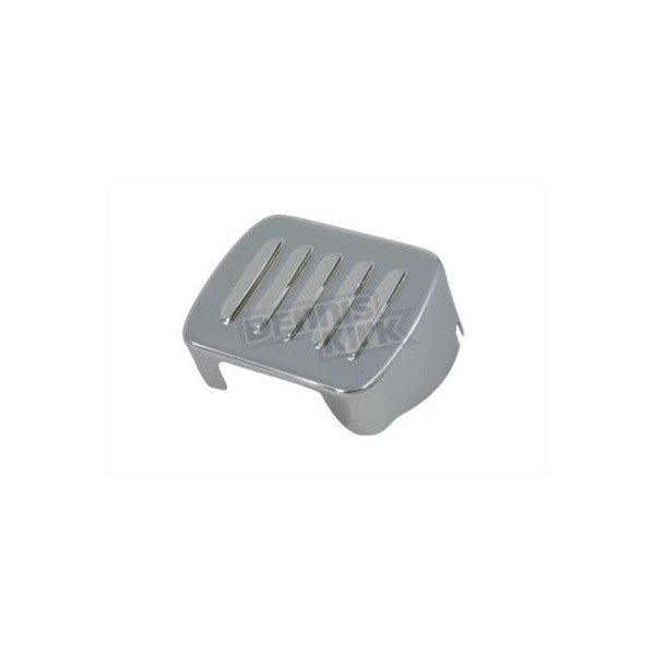 V-Twin Manufacturing Chrome Louvered Coil Cover - 42-0417