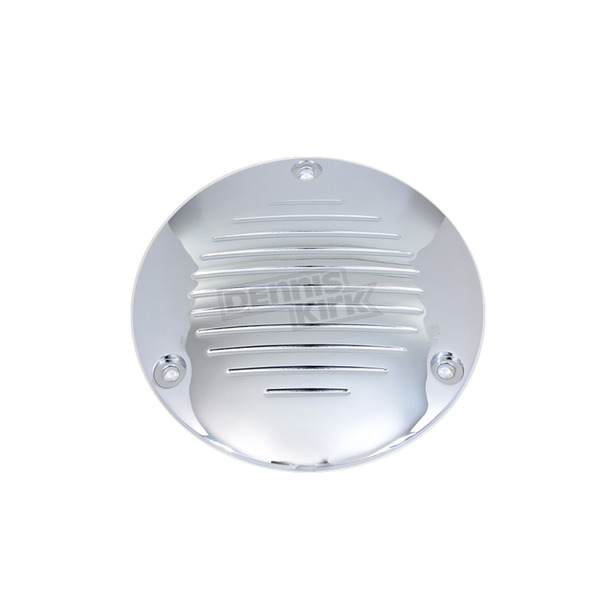 V-Twin Manufacturing Chrome Grooved 3-Hole Derby Cover - 42-1142