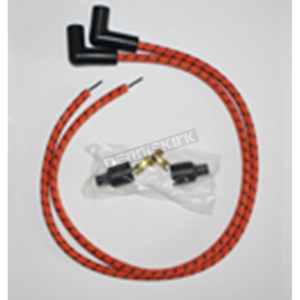 Sumax Orange/Black Classic Thunder Braided Cloth Wire Set - C76881