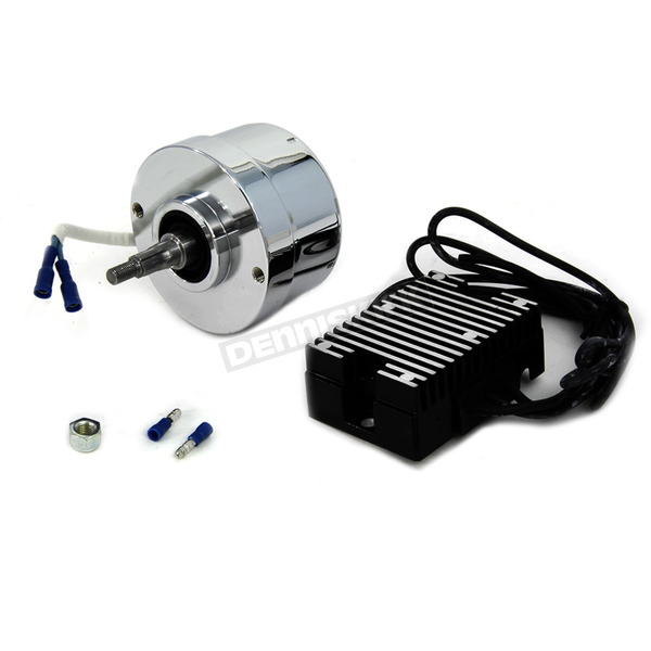 V-Twin Manufacturing Generator to Alternator Conversion Kit for H-D FL, G, W and XL Models - 32-0372