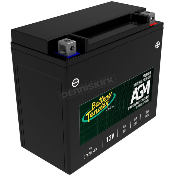 Battery Tender Factory-Activated AGM Standard Battery - BTX20L-FA