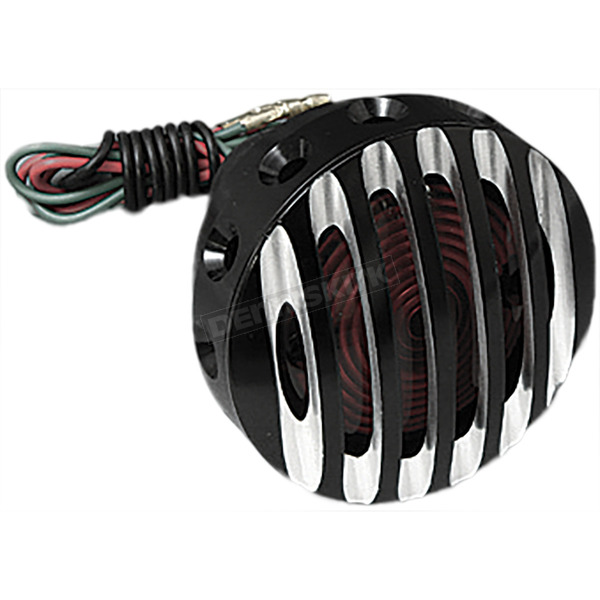 West Eagle Black Grill Tail Light w/Aluminum Accents - 5905-BAB