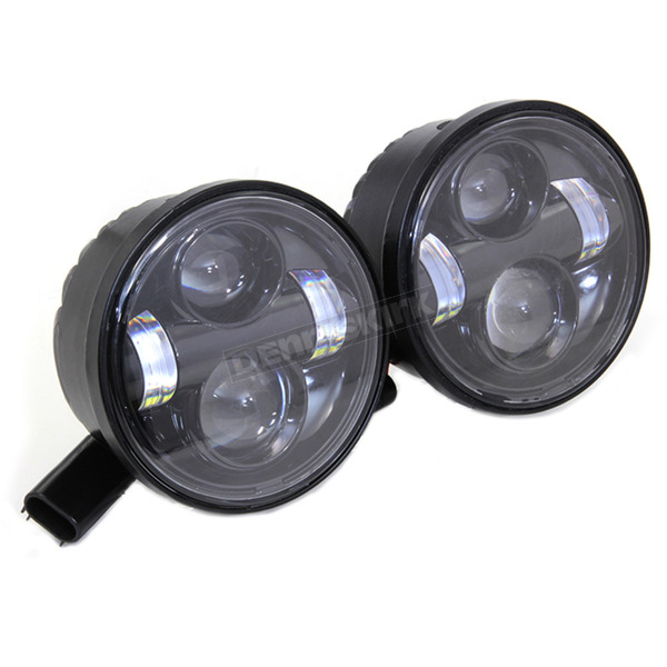 V-Twin Manufacturing Black 4 1/2 in. LED Headlight Set - 33-1102