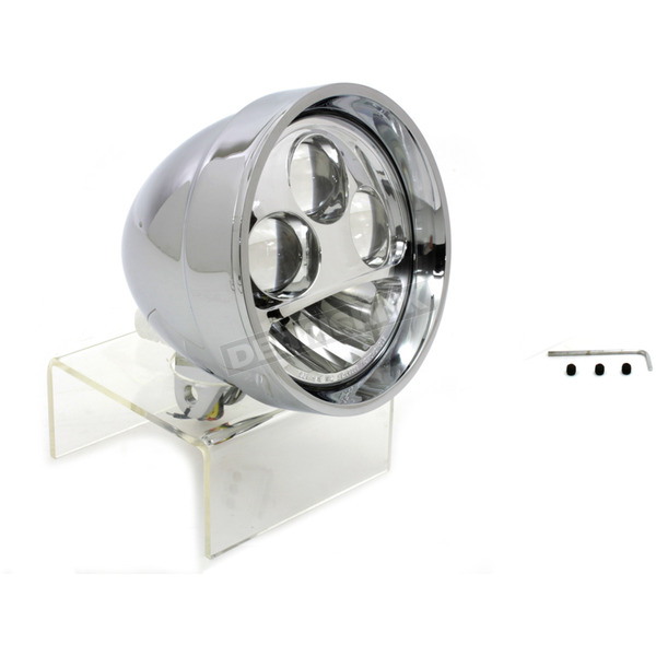 V-Twin Manufacturing Chrome 5 3/4 in. LED Headlight Assembly - 33-1014