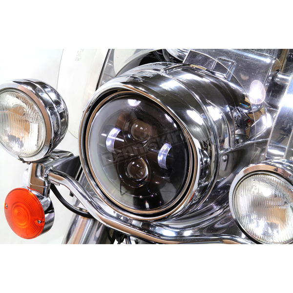 V-Twin Manufacturing Chrome 7 in. LED Headlamp - 33-1106