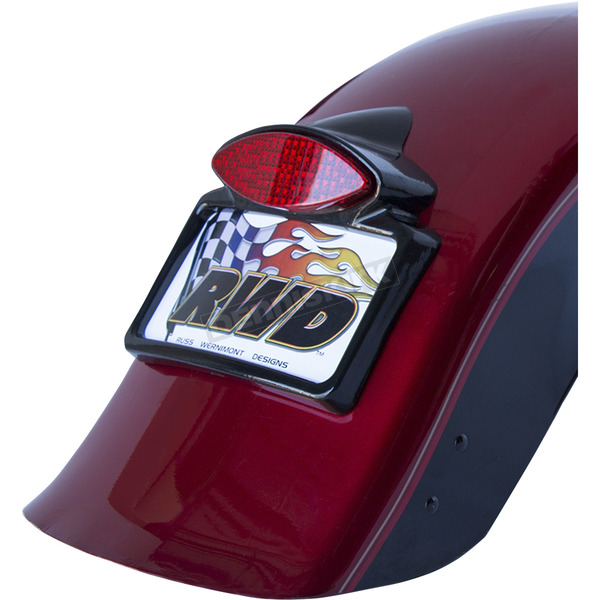 Russ Wernimont Designs Gloss Black LED Taillight w/License Plate Frame - RWD-50207GB