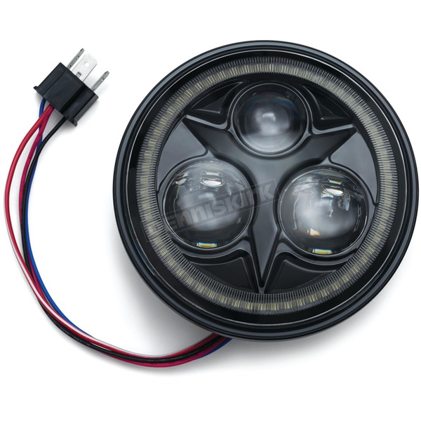Black 5 3/4 in. Orbit Vision LED Headlight w/White Halo - 2462