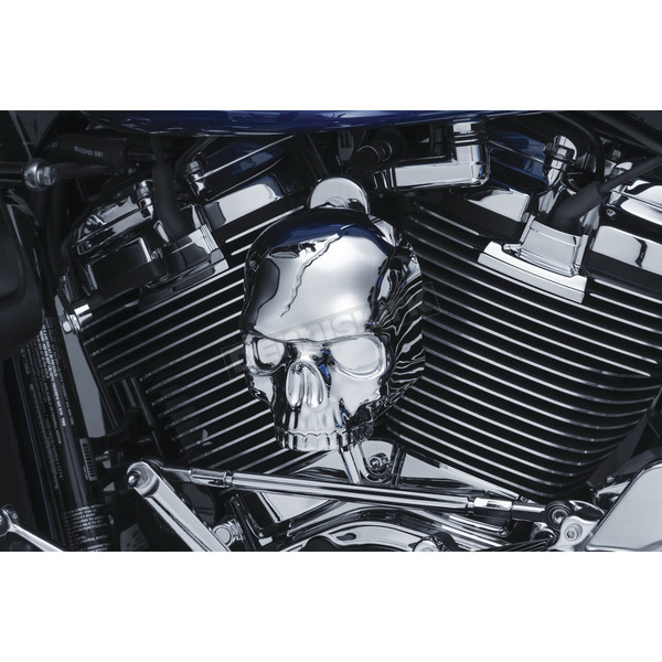 Kuryakyn Chrome Skull Horn Cover - 5730