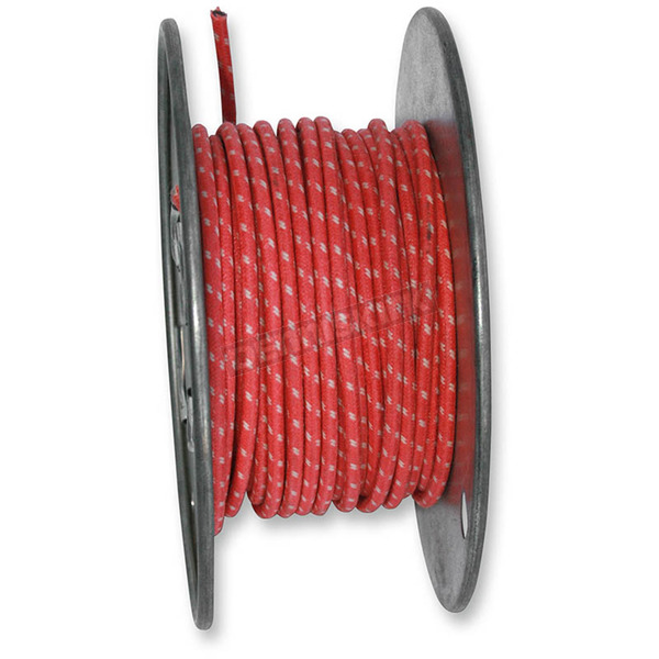 NYC Choppers Red 25 ft. Braided Wire Roll w/Tracers - 16G-WR/RD