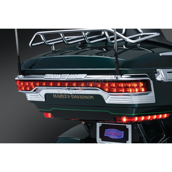Kuryakyn Chrome Tri-Line Accent for Rear Tour-Pak Light - 6910