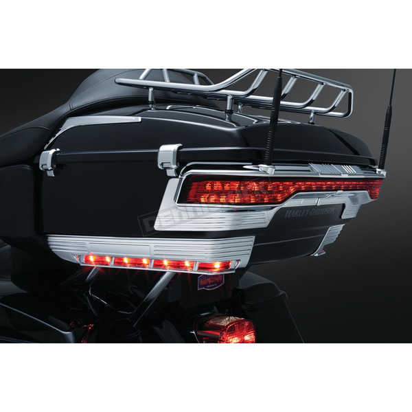 Kuryakyn Chrome Tri-Line Accent for Front/Side Tour-Pak Light - 6911