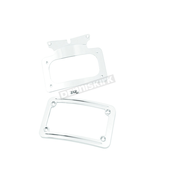 Chrome Curved License Plate Frame - 13122