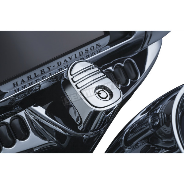 Kuryakyn Chrome Tri-Line Ignition Switch Cover - 6984
