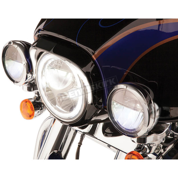 Ciro Gloss Black Headlight Bezel - 45211