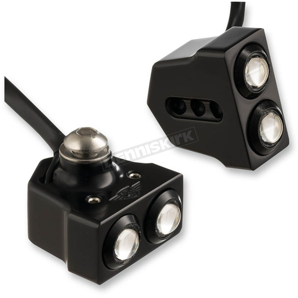 Joker Machine Black Side Mount Rat Eye LED Turn Signals - 05-208-AB