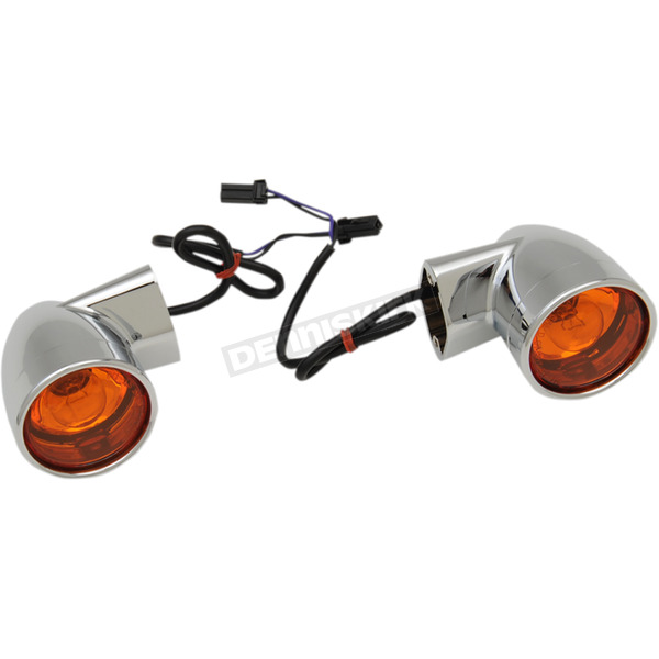 Drag Specialties Chrome Bullet-Style Rear Turn Signals - 2020-1378