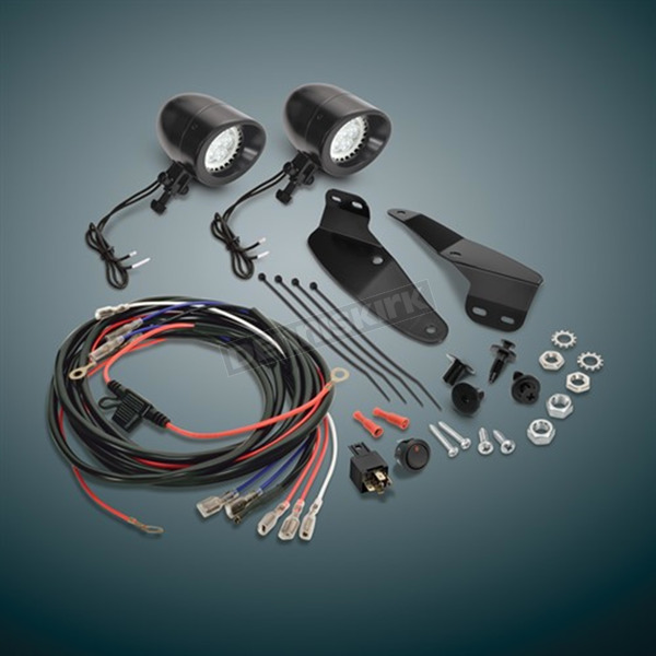 Show Chrome Accessories Black Satin Mini LED Driving Lights - 52-857LBK
