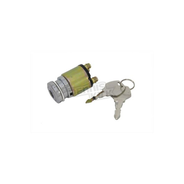 V-Twin Manufacturing Chrome Ignition Key Switch - 32-0416