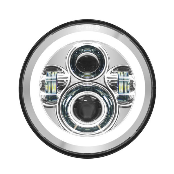 HogWorkz Chrome 7 in. Halomaker LED Headlight - HW167004OLD