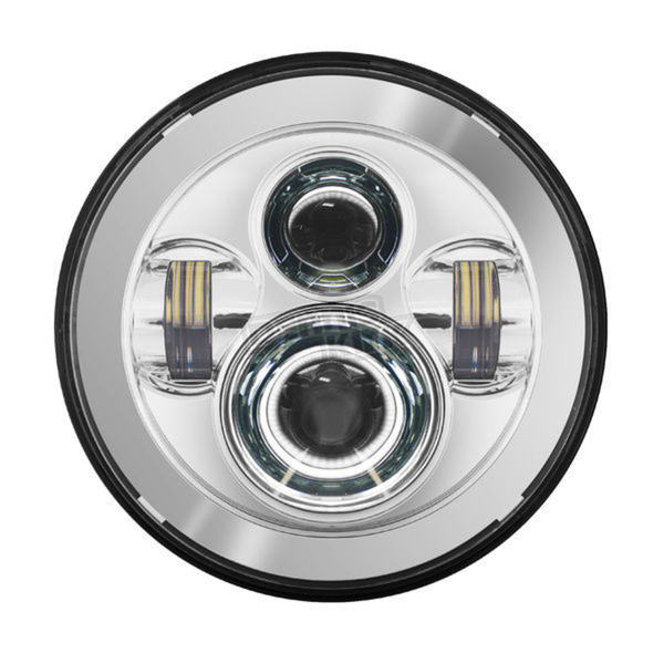 HogWorkz Chrome 7 in. LED Headlight - HW195001OLD