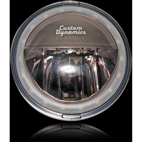 Custom Dynamics Black 4.5 in. Halo LED Passing Lamps - CDTB-45-H-B