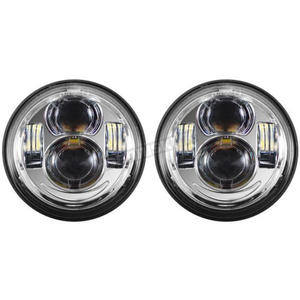 Chrome 4.65 in. LED Headlight - HW195207