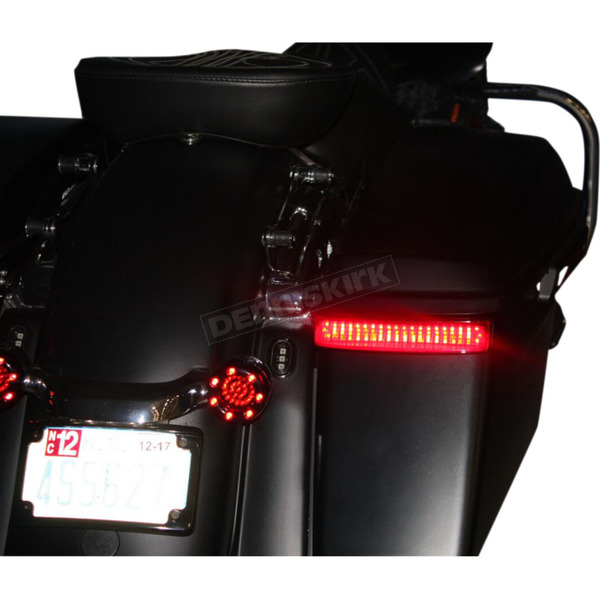 Custom Dynamics HD Bagz Black Saddlebag Lights w/Red Lens for H-D OE Saddlebags - CS-SB-OBCM-BR