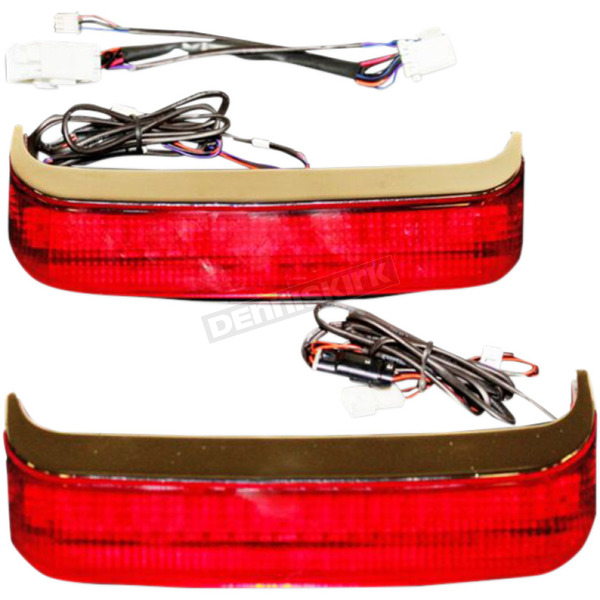Custom Dynamics HD Bagz Chrome Saddlebag Lights w/Red Lens for H-D OE Saddlebags - CS-SB-HD-CR
