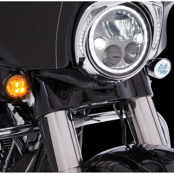 Chrome Fang Front Turn signal Light Insert - 45400